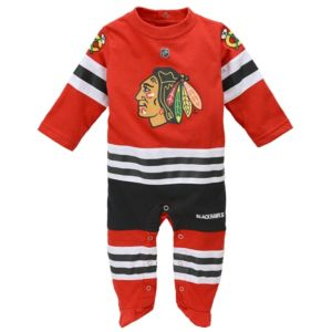 Baby Reebok Chicago Blackhawks Footed Bodysuit
