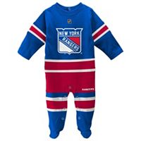 Baby Reebok New York Rangers Footed Bodysuit