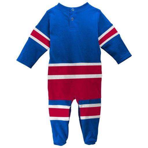 Baby Reebok New York Rangers Footed Bodysuit