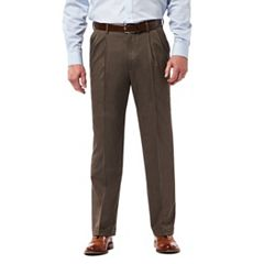 Men's Haggar Premium Classic-Fit Stretch Pleated Dress Pants