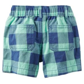 """Baby Boy Carter's """"Sea You Later Mate"""" Bodysuit & Checkered Plaid Shorts Set"""
