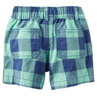 "Baby Boy Carter's ""Sea You Later Mate"" Bodysuit & Checkered Plaid Shorts Set"