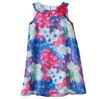 Toddler Girl Lavender by Us Angels Floral Trapeze Dress