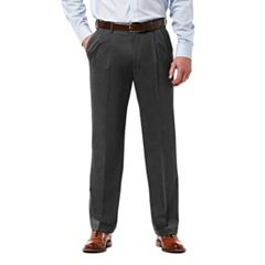 Big & Tall Haggar Premium Classic-Fit Stretch Pleated Dress Pants