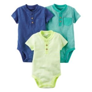Baby Boy Carter's 3-pk. Pocket Henley Bodysuits