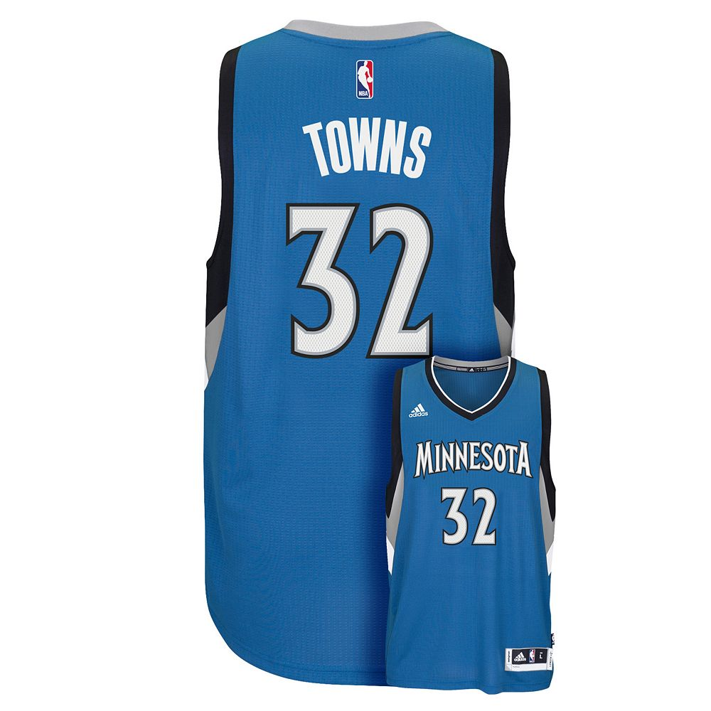 timeless design cf0e5 4cf86 Men's adidas Minnesota Timberwolves Karl-Anthony Towns ...