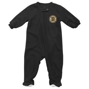 Baby Reebok Boston Bruins Footed Pajamas
