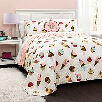 Cupcake Ice Cream Quilt Set