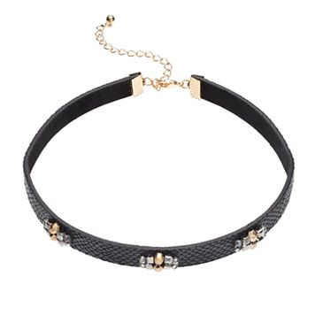 Beaded Cluster Choker Necklace