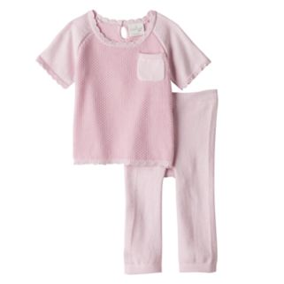 Baby Boy Cuddl Duds Knit Textured Top & Heart Pants Set