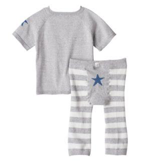 Baby Boy Cuddl Duds Striped Knit Top & Pants Set