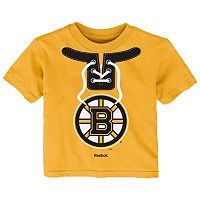 Toddler Reebok Boston Bruins Lace-Up Graphic Tee