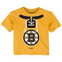 Toddler Reebok Boston Bruins Lace-Up Graphic Tee
