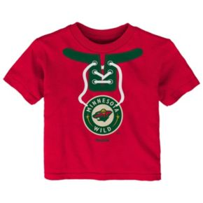 Toddler Reebok Minnesota Wild Lace-Up Graphic Tee