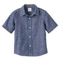 Toddler Boy Jumping Beans® Short Sleeve Chambray Button-Down Shirt