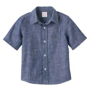 Toddler Boy Jumping Beans® Short Sleeve Chambray Button-Down Shirt