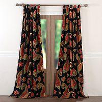 Midnight Paisley 2-pack Window Curtain