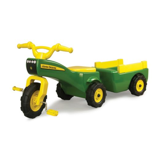 John Deere Pedal Tractor & Wagon Ride-On