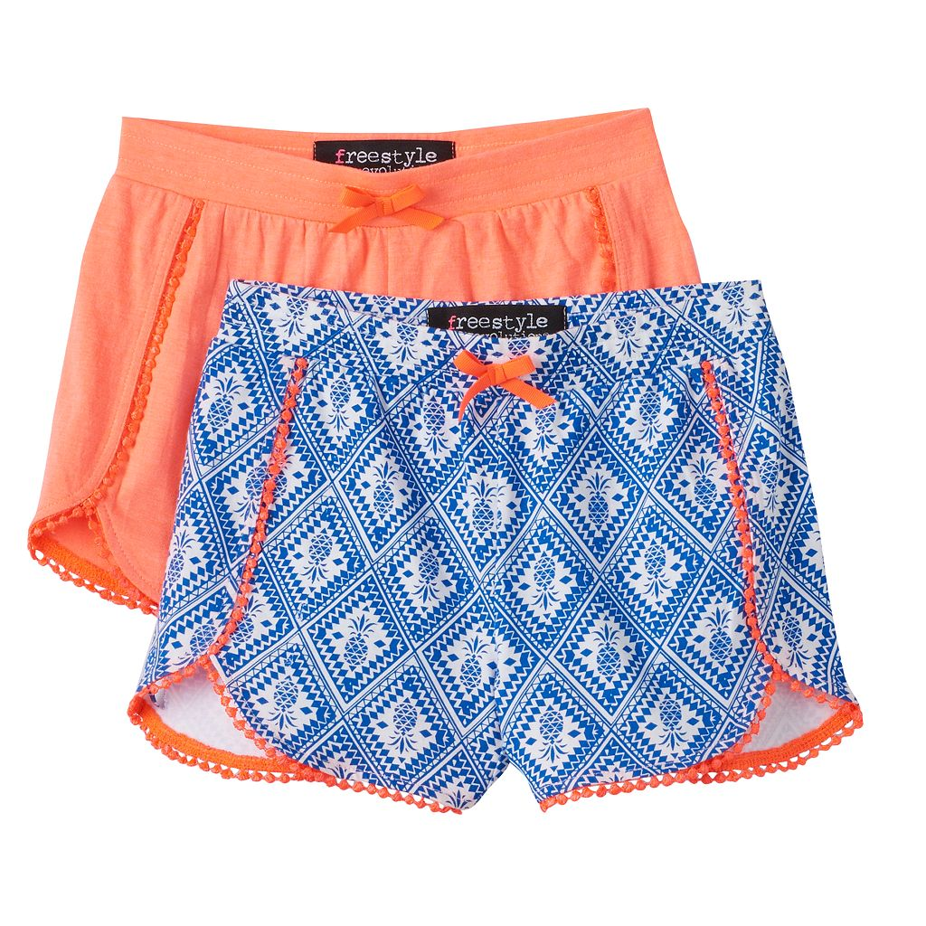 Girls 4-6x Freestyle Revolution Print & Solid Shorts Set