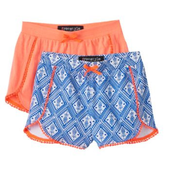Girls 4-6x Freestyle Revolution Print & Solid Shorts Set