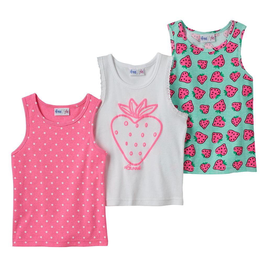Toddler Girl Freestyle Revolution 3-pk. Strawberry Tank Tops