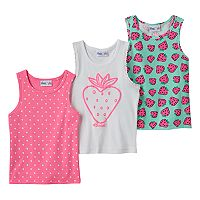 Toddler Girl Freestyle Revolution 3-pk. Strawberry Tank Tops