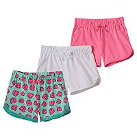 Toddler Girl Freestyle Revolution 3-pk. Strawberry Lace & Solid Shorts