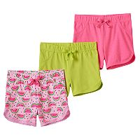 Toddler Girl Freestyle Revolution 3 pkWatermelon Lace & Solid Shorts