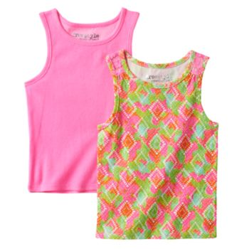Toddler Girl Freestyle Revolution 2-pk. Perforated Heart Tank Top & Multi-Colored Pattern Tank Top