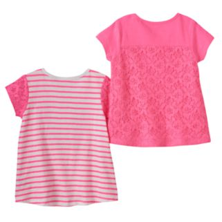 Toddler Girl Freestyle Revolution 2-pk. Lace Heart Tees