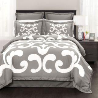 Lavish Damask 6-piece Comforter Set