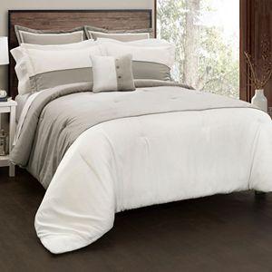 Contemporary Block 6-piece Comforter Set