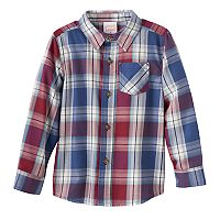 Toddler Boy Jumping Beans® Plaid Flannel Long Sleeve Shirt
