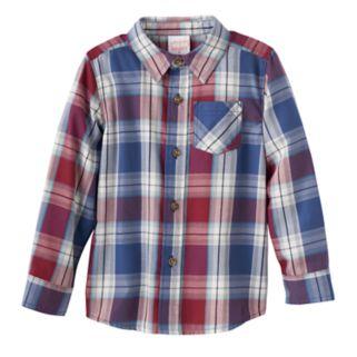 Toddler Boy Jumping Beans® Plaid Long Sleeve Shirt