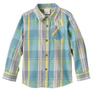 Baby Boy Jumping Beans® Plaid Flannel Long Sleeve Shirt