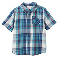 Baby Boy Jumping Beans® Plaid Flannel Short Sleeve Shirt