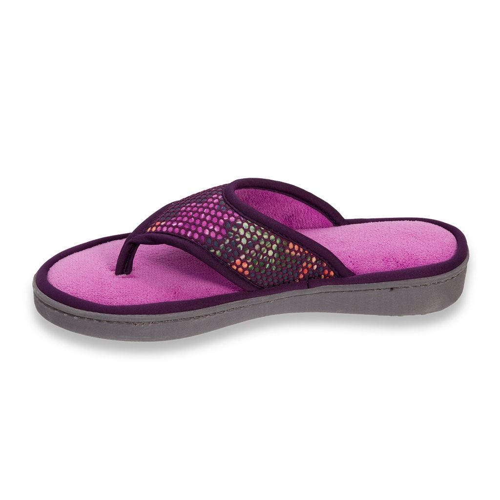 Dearfoams Women's Active Mesh Thong Slippers
