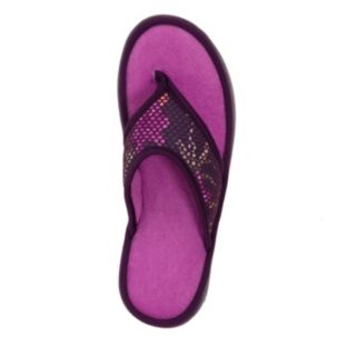 Dearfoams Women's Active Mesh Thong Slippers