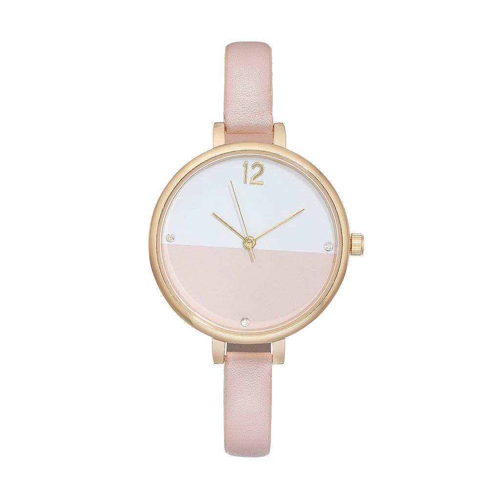 Women's Crystal Colorblock Watch