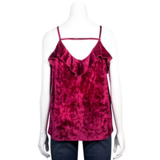 Juniors' Grayson Threads Velvet Ruffle Camisole