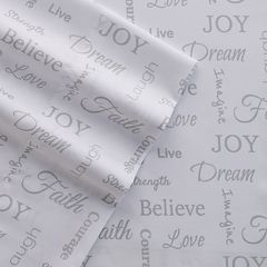 Grand Collection Microfiber Inspirational Print Sheet Set