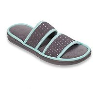 Dearfoams Women's Perforated Double Band Slippers