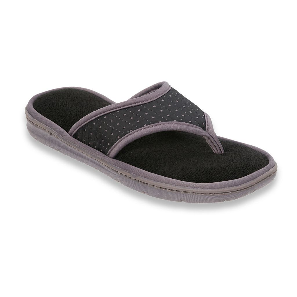 Dearfoams Women's Perforated Thong Slippers