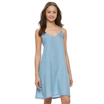 Juniors' SO® Denim Swing Dress