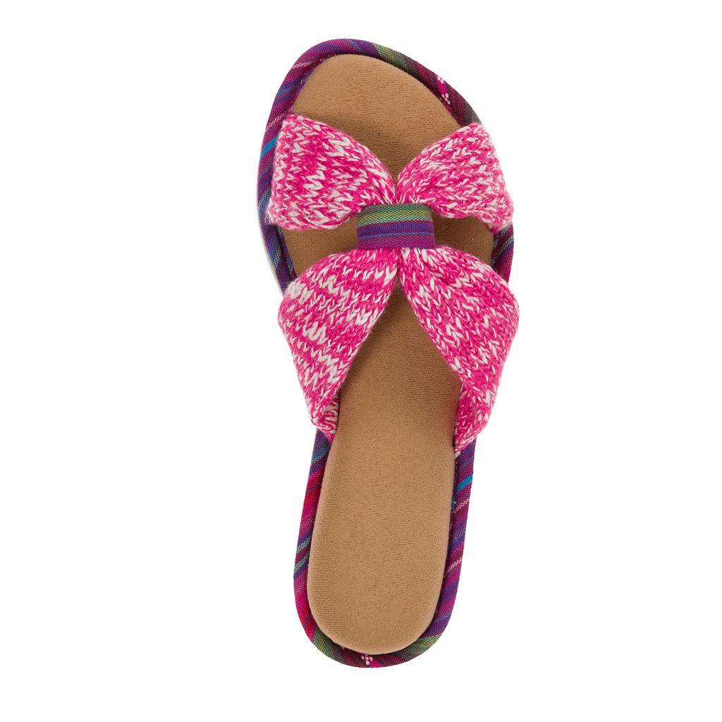 Dearfoams Women's Summer Knit Slide Slippers