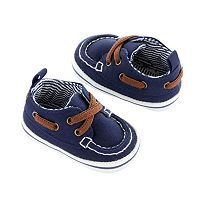 Newborn Baby Boy Carter's Boat Shoe Crib Shoes