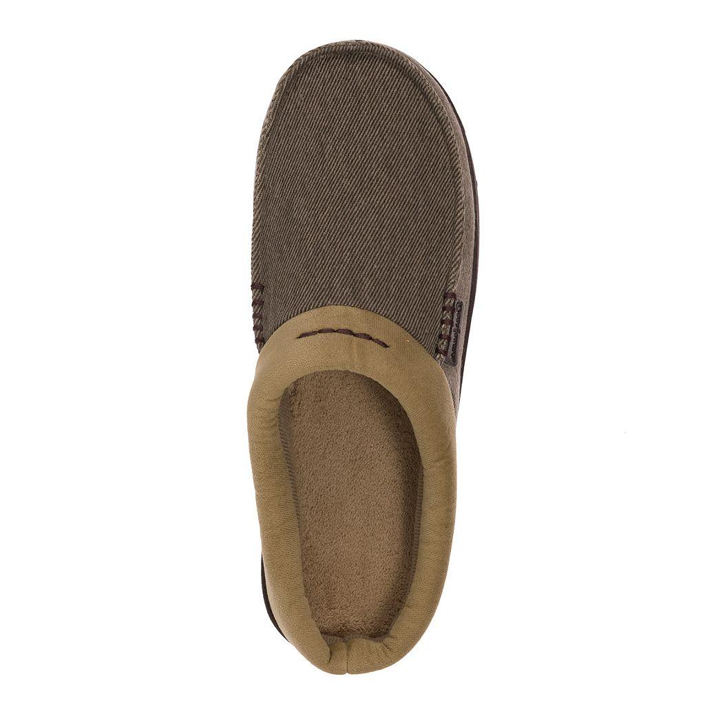 Dearfoams Men's Twill Clog Slippers