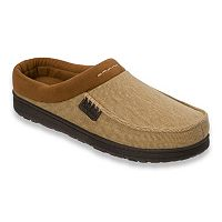 Dearfoams Men's Twill Clog Slippers