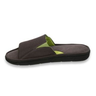 Dearfoams Men's Mesh Slide Slippers