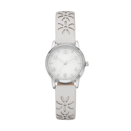 Women's Floral Cutout Watch